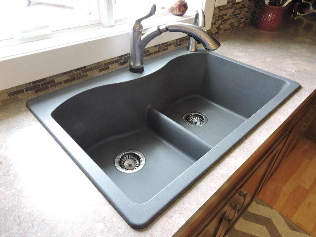 Best Granite Sinks : Also known as a top-mount sink, the drop in sink is mounted with a lip ...